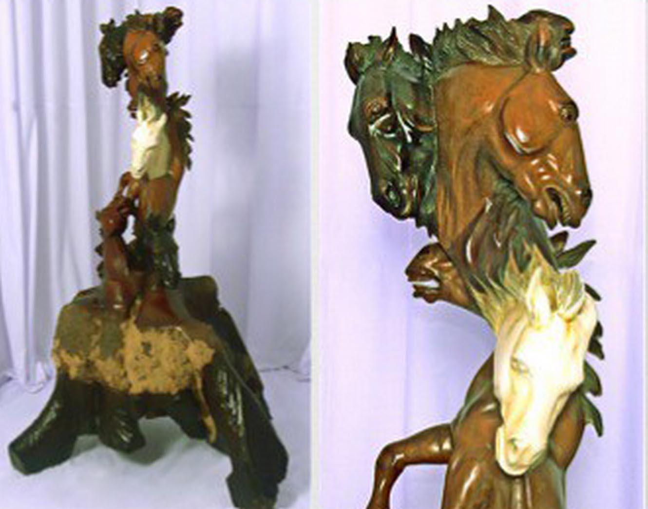 Horse carved