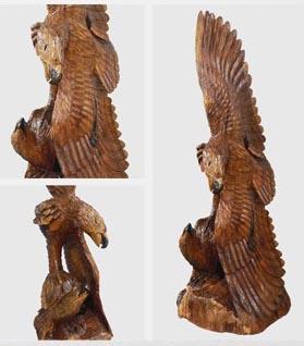 Eagle carved