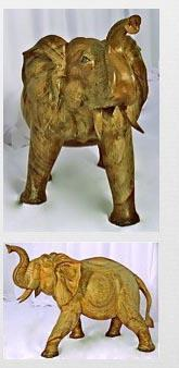 Elephant carved
