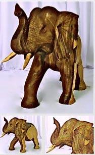 Elephant carved