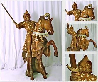 Knight carved