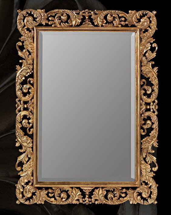 Floral baroque mirror