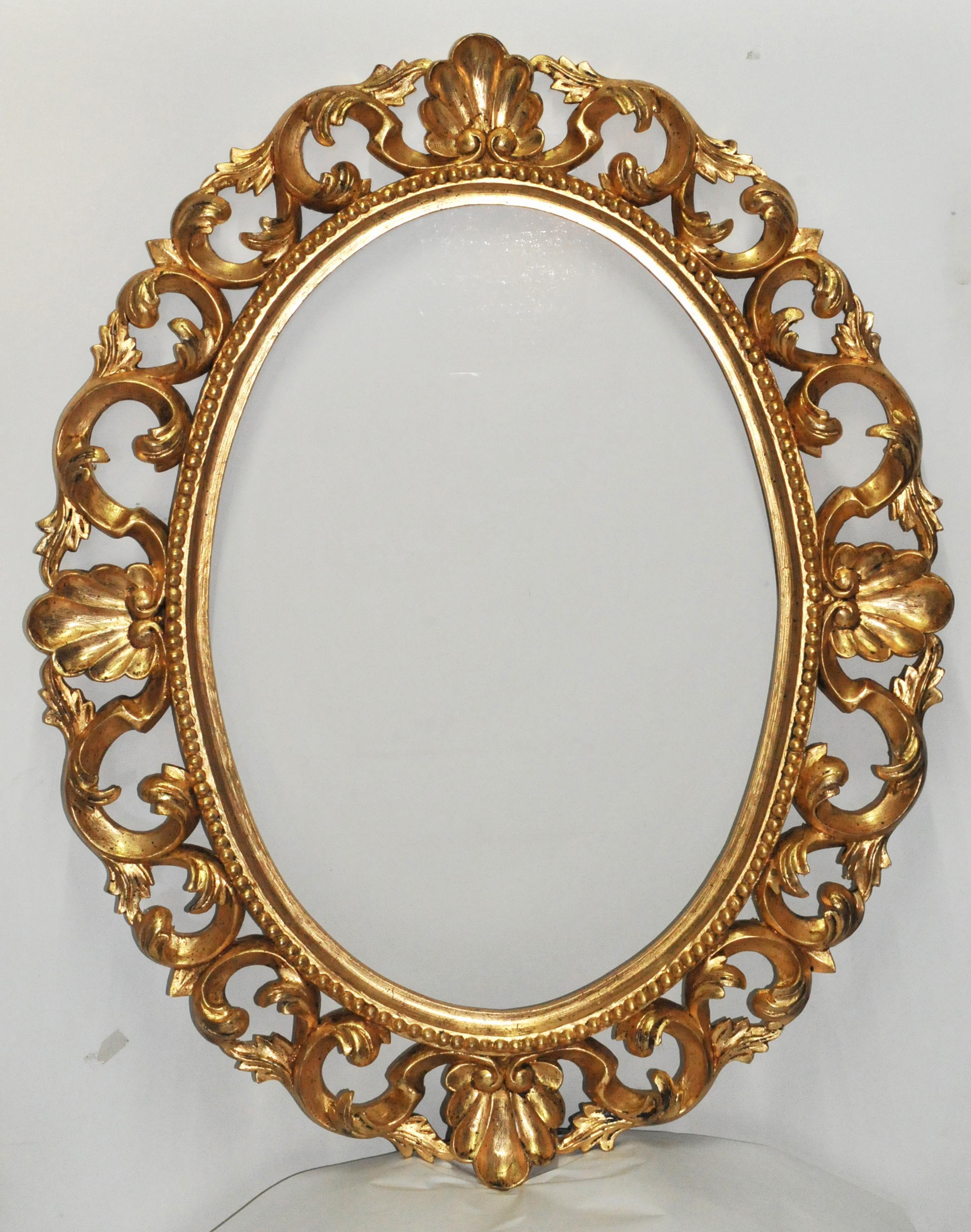 Specchiera ovale barocca