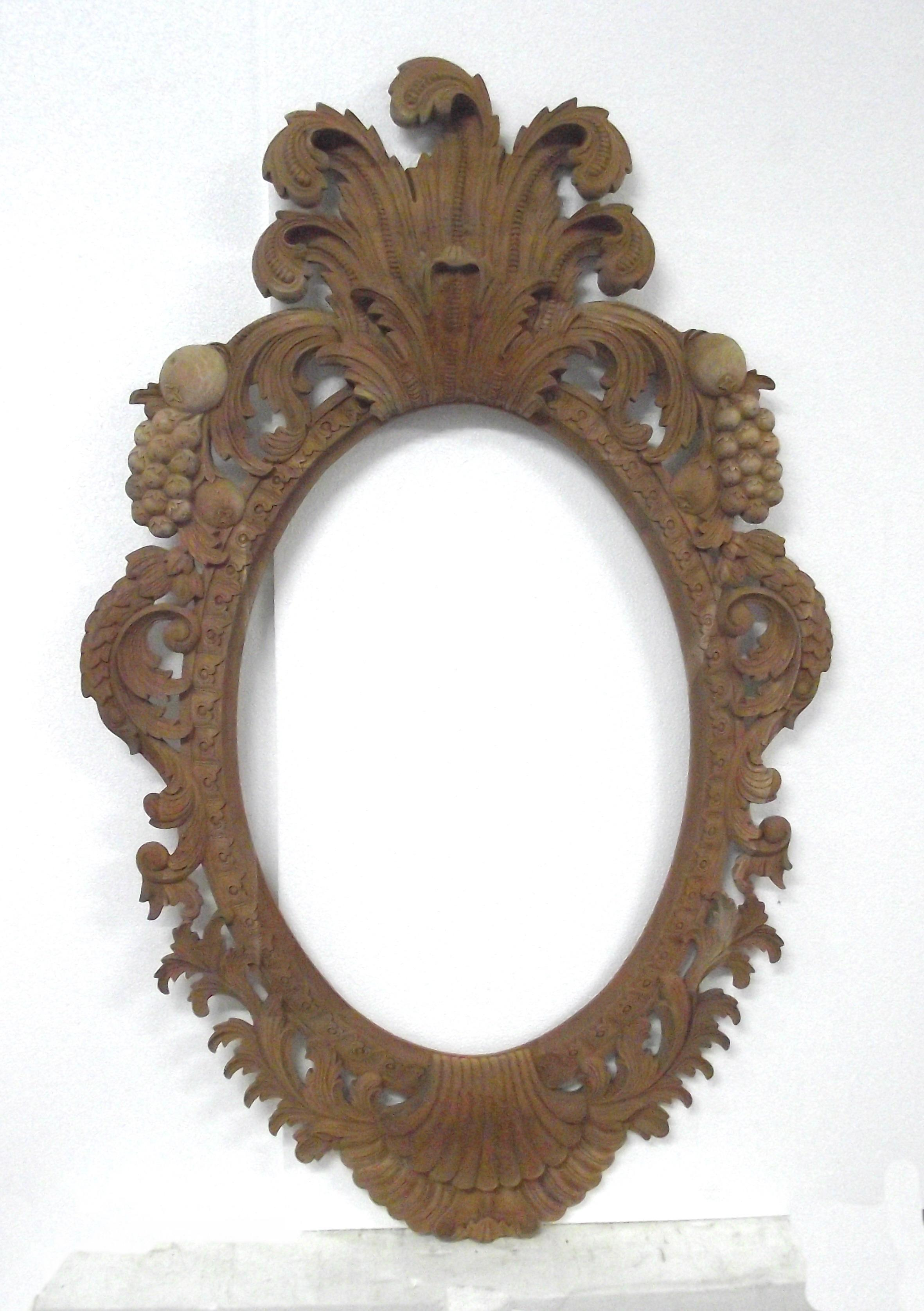 Oval frame with fruit