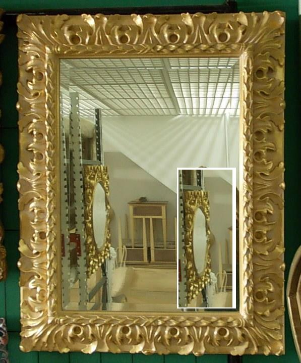 Mirror with gold leaf