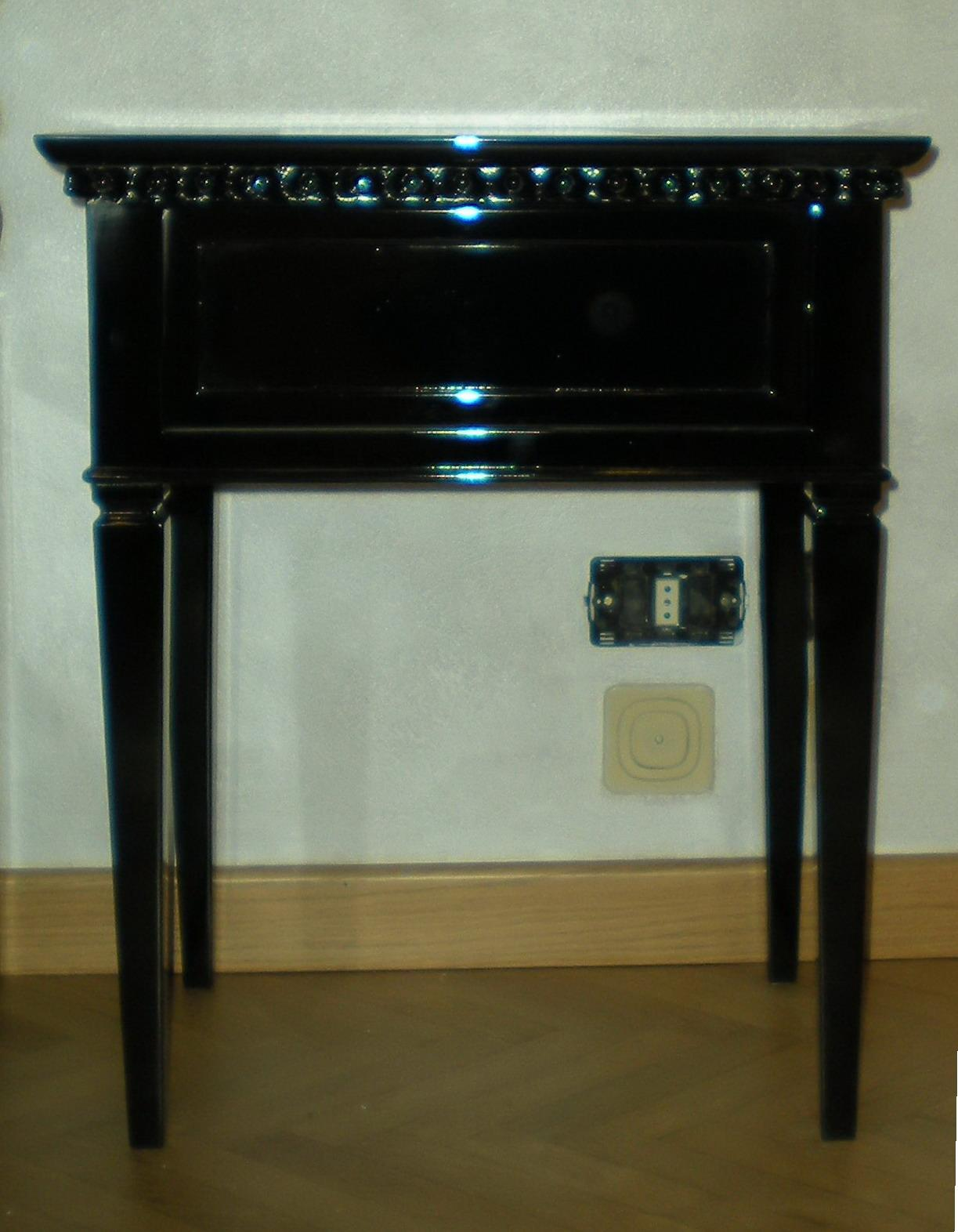 Lacquered bedside tables