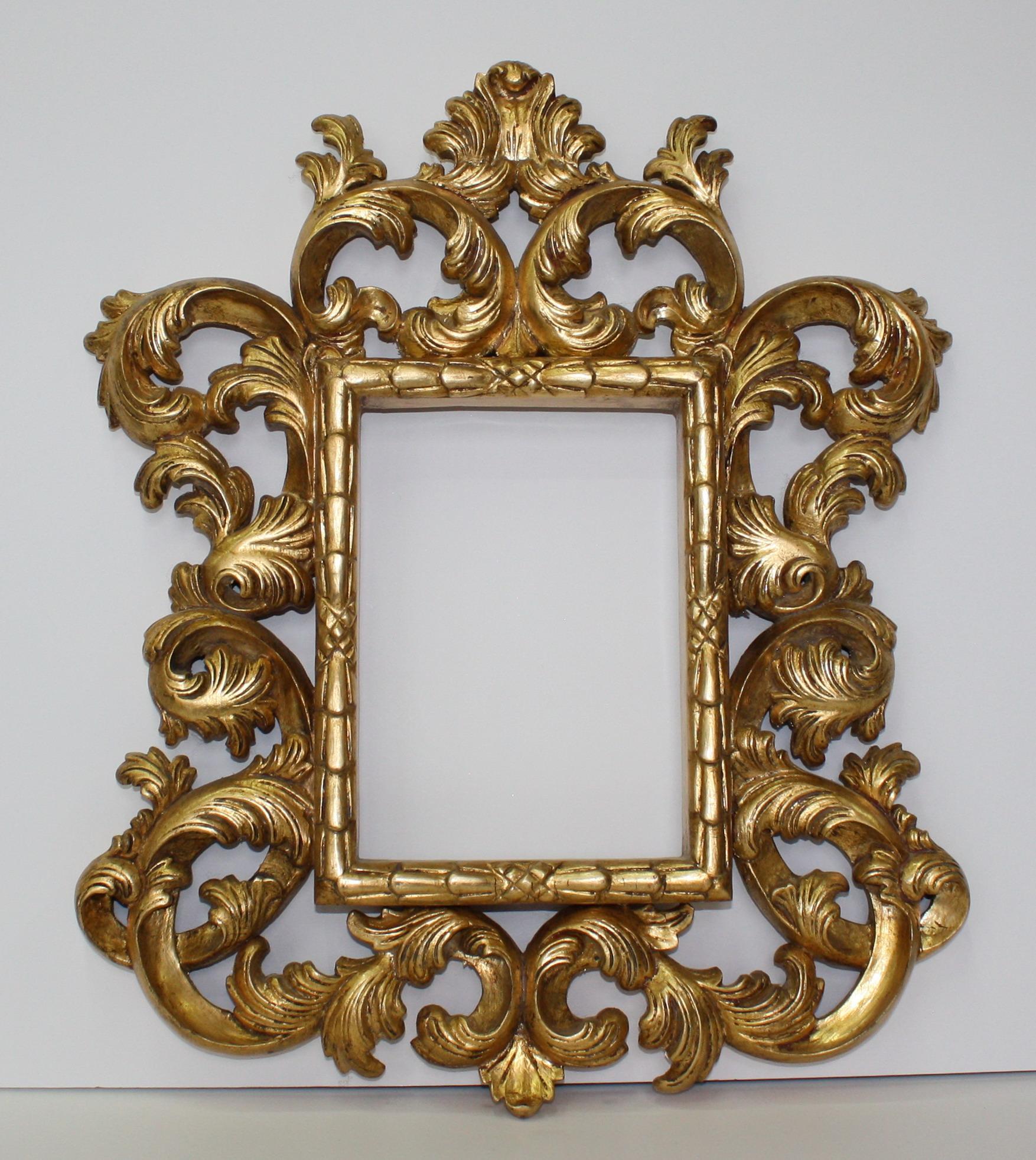Miniature baroque mirror