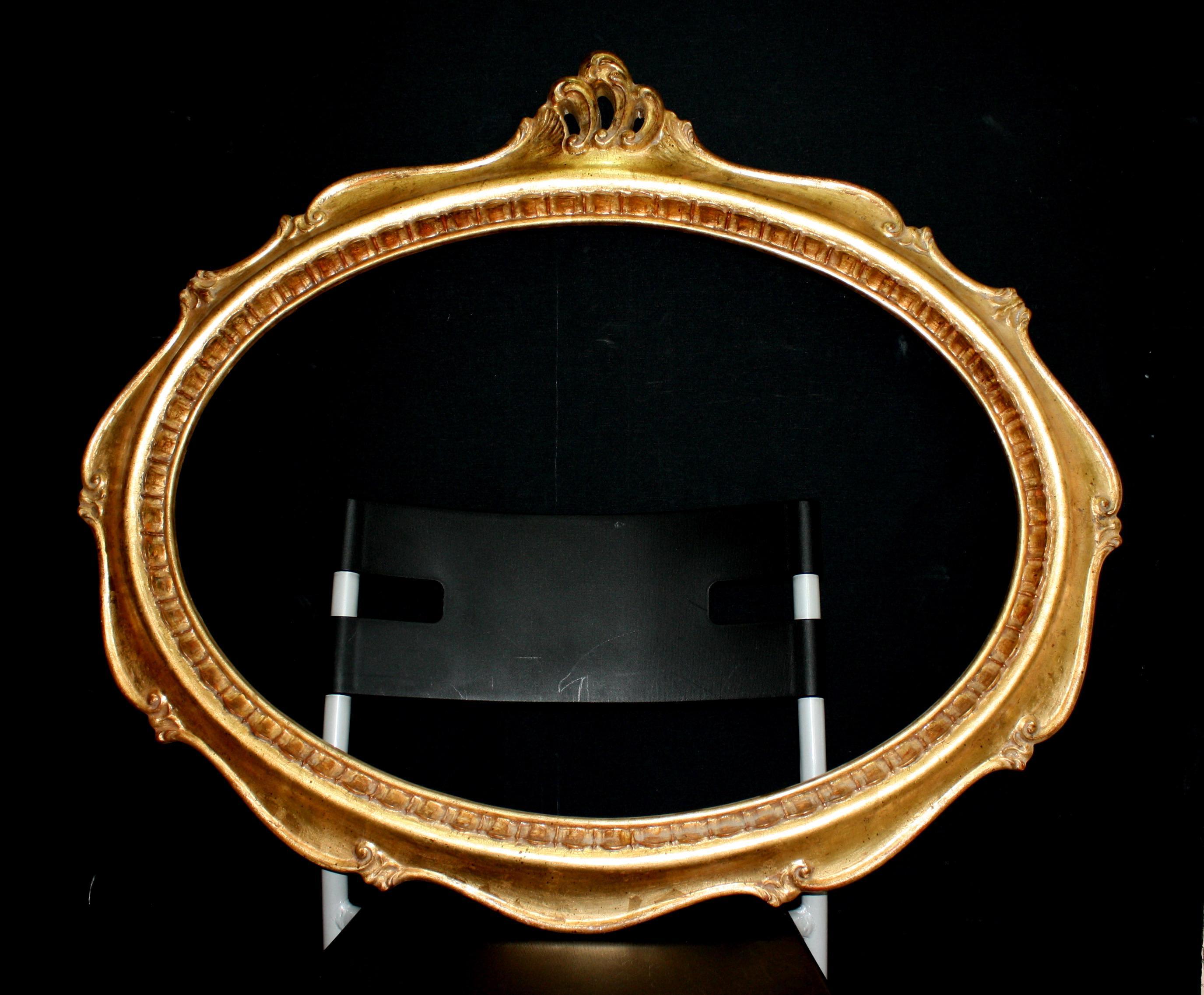 Mirror in gold leaf
