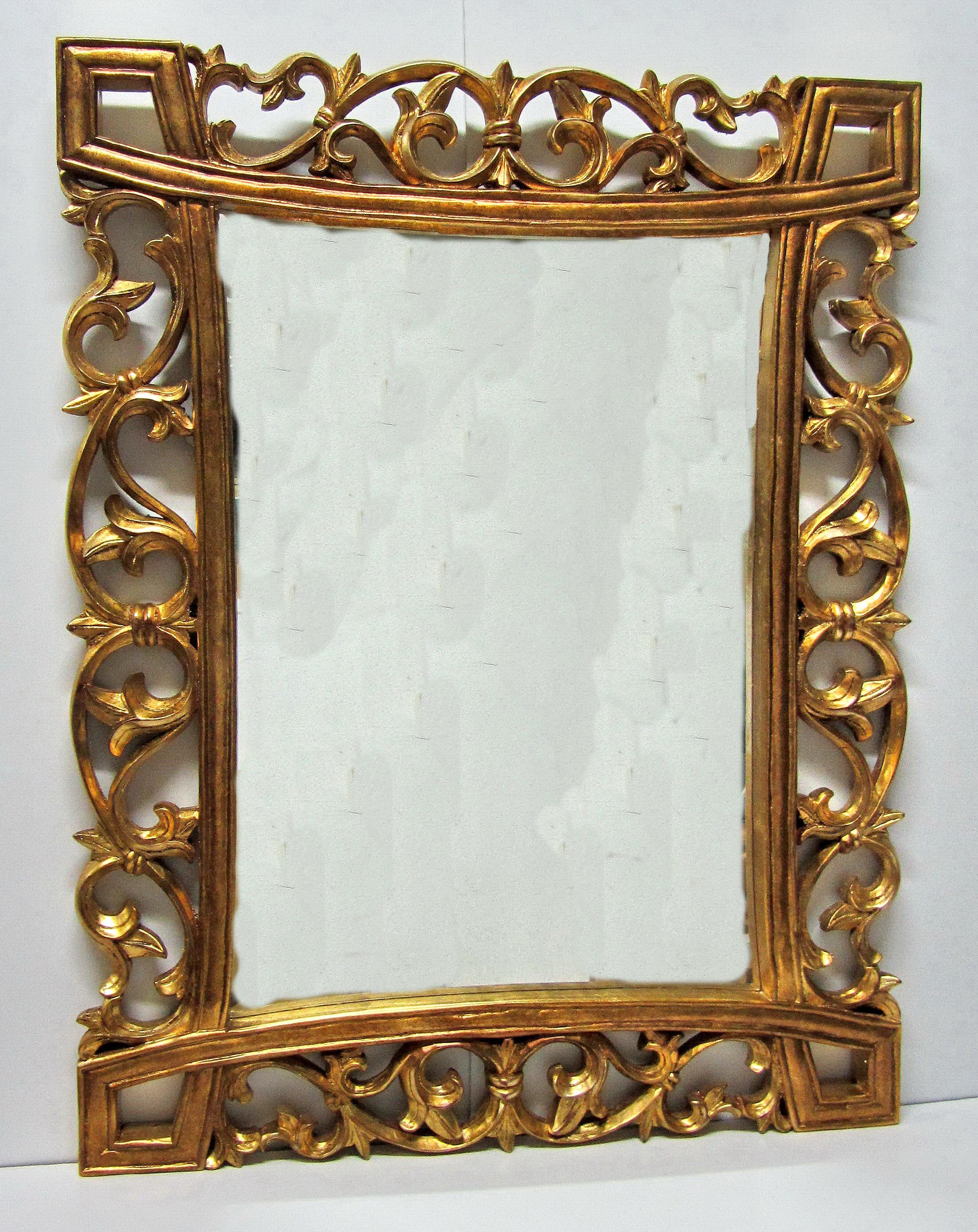 hand-carved wooden mirror frames
