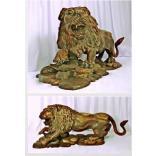 Lion carved